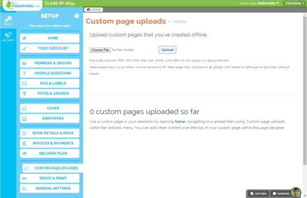 custompages