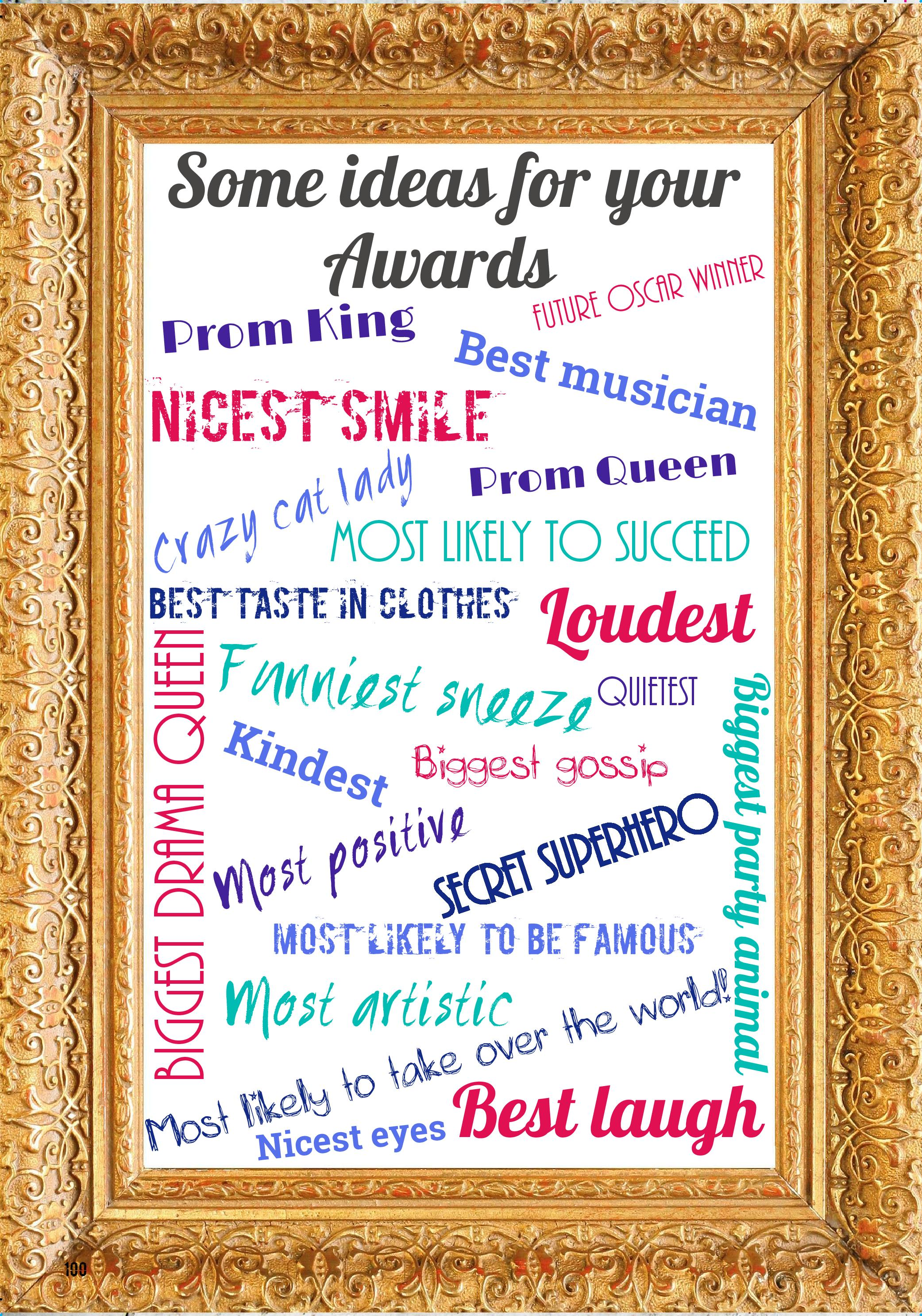 funny award categories for friends